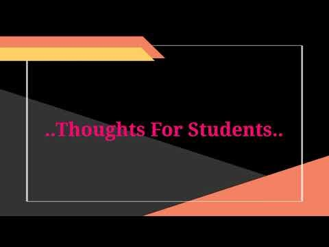 Thoughts in English with Hindi meaning Videos for students