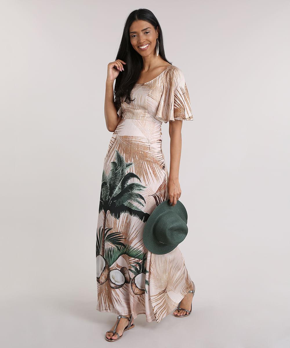 Vestido-Longo-Agua-de-Coco-Estampado-Coqueiros-Bege-8759913-Bege_3
