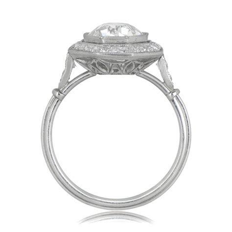 2.30ct Octagon Halo Engagement Ring   Estate Diamond Jewelry