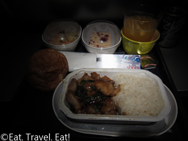 Cathay Pacific Dinner- Layout w/ Entree open