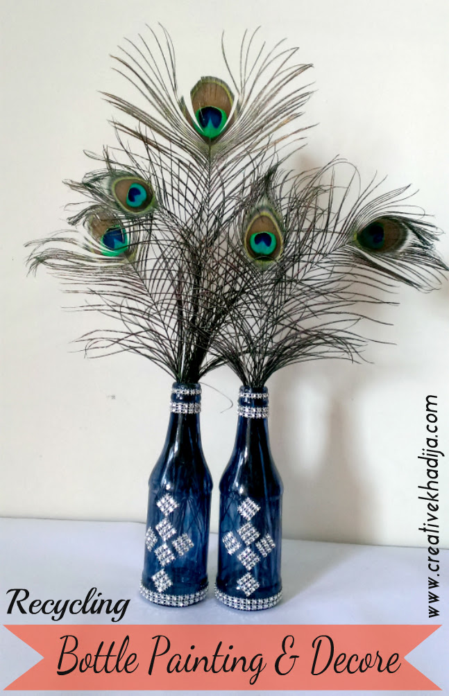 Diy Glass Painted Bottles Decoration Recycling Ideas