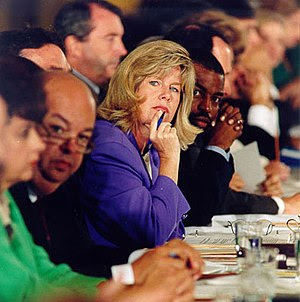 Tipper Gore, wife of then Senator and later Vi...
