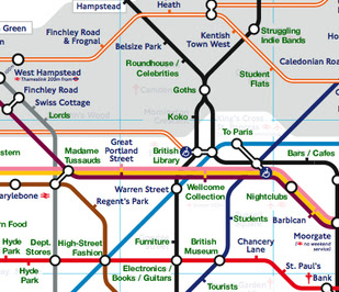 London Points Of Interest Map.London Underground Tube Diary Going Underground S Blog