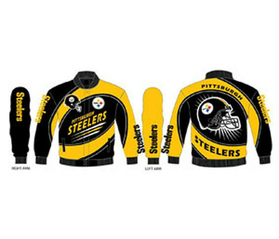 Pittsburgh Steelers Jacket Sentinel Mens Twill Jacket NFL Team Apparel  eBay