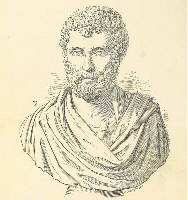 Herodoto busto dibujo a lapiz