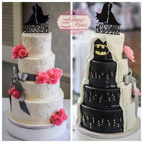 Surprise Batman Wedding cake for the groom! #batman #