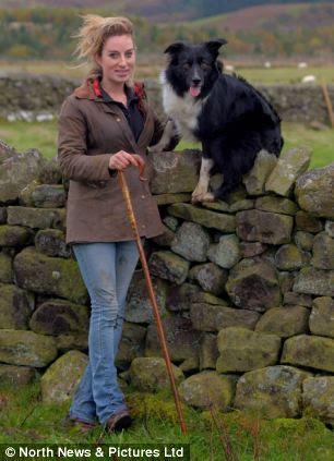 Shepherdess Emma Gray, 27, from Elsdon, Northumberland