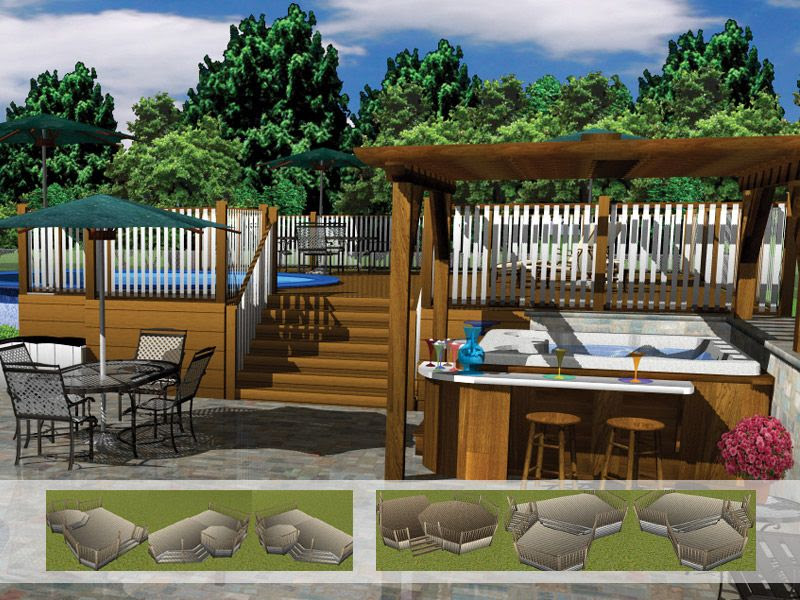 Above Ground Pools Decks Idea Attached to House