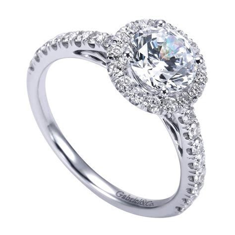 Gabriel & Co. Engagement Rings Round Halo .56ctw Diamonds