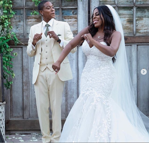 Hollywood actress, Niecy Nash shares more photos from her wedding to best friend Jessica Betts after divorcing her husband of 8-years, Jay Tucker