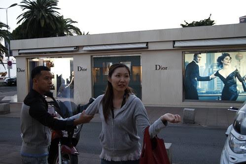 Ming Jin and Tomoko imitating the Dior ad 2