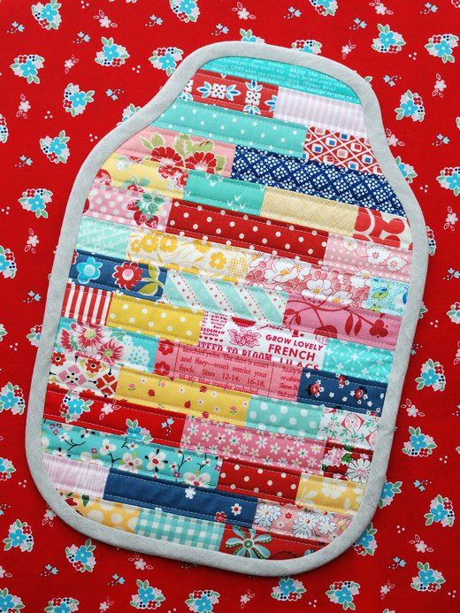 Retro Mama   Quilted Hot Water Bottle Cozy Tutorial