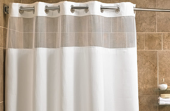 Mini Waffle Shower Curtain Fairfield Hotel Store