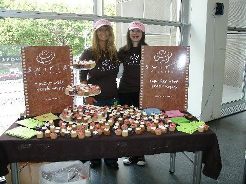 Pam and Margo from Chicago's Swirlz Cupcakes