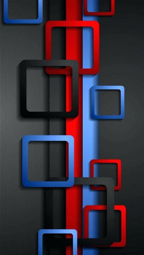 wallpaper full hd  mobile  red blue  black box