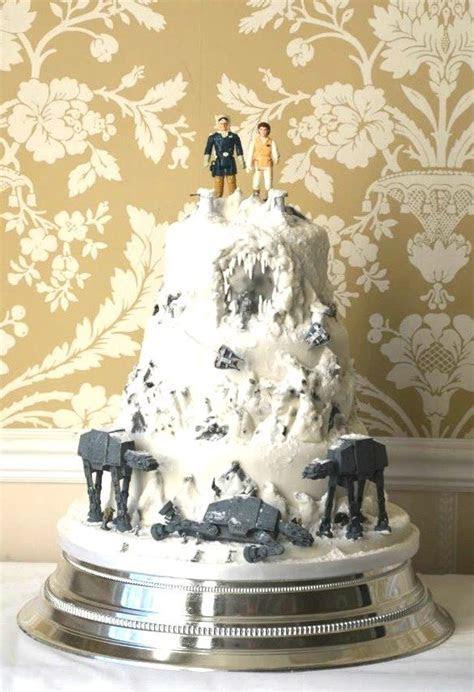 Star Wars wedding cake   Battle of Hoth wedding cake