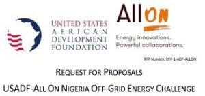 USADF, All On open 2019 $100,000 off-grid energy challenge for Nigeria