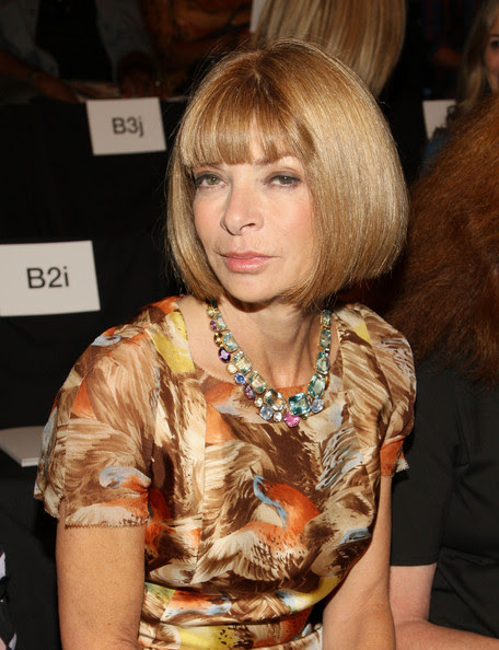 Editor of Vouge magazine Anna Wintour attends the Vera Wang Spring 2009 fashion show during Mercedes-Benz Fashion Week at The Tent, Bryant Park on September 11, 2008 in New York City.
