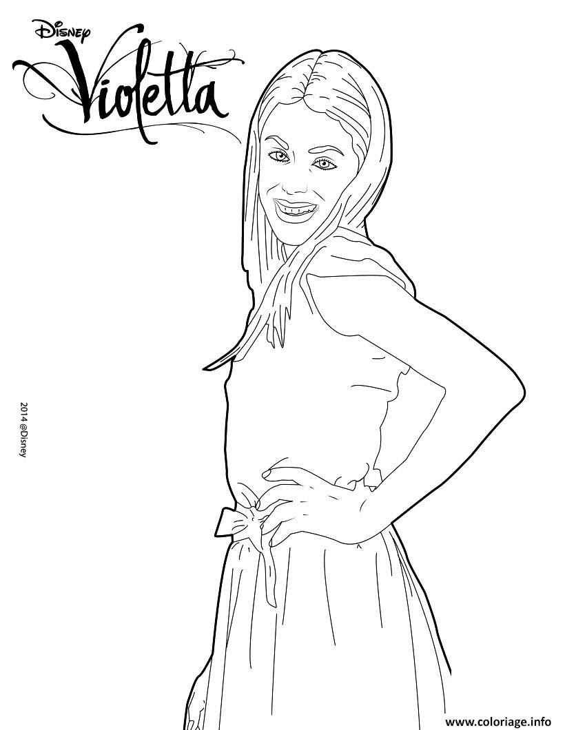 Coloriage Violetta Pose Mannequin Top Model Dessin   Imprimer