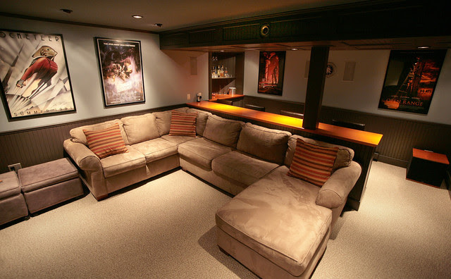 Media Rooms In Basements | Rumah Minimalis