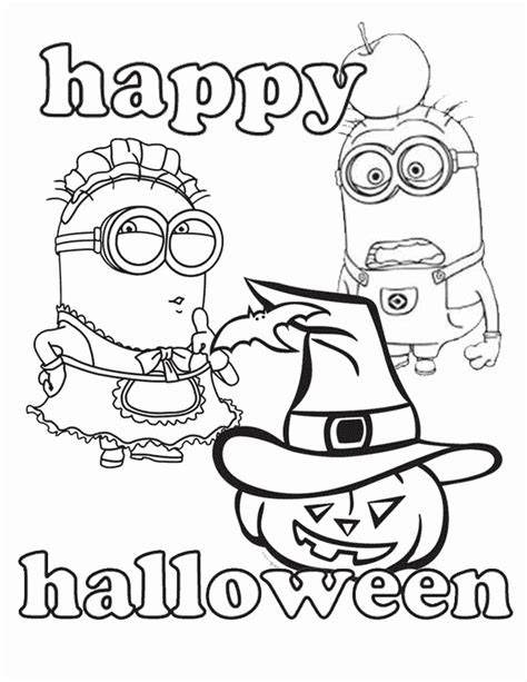 Download Minion Halloween Coloring Pages Printable | Coloring Pages - Free Printable