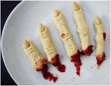 Doigts de sorcière biscuits Halloween vegan vegetalien