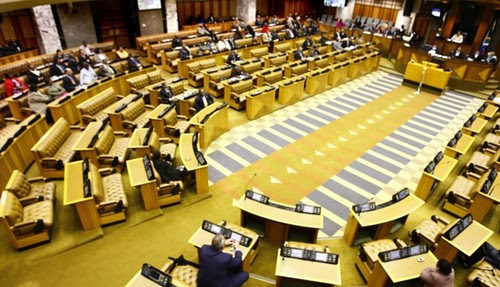 Republic of South Africa Parliament where a debate on gender-based violence took place in February 2013. Opposition figures criticized ministers for not attending the discussion. by Pan-African News Wire File Photos
