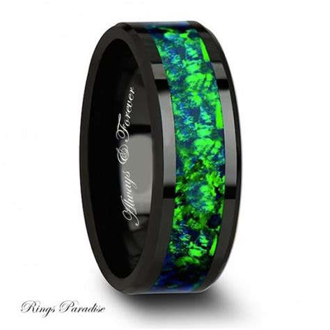 wedding band ceramic ring mens wedding band