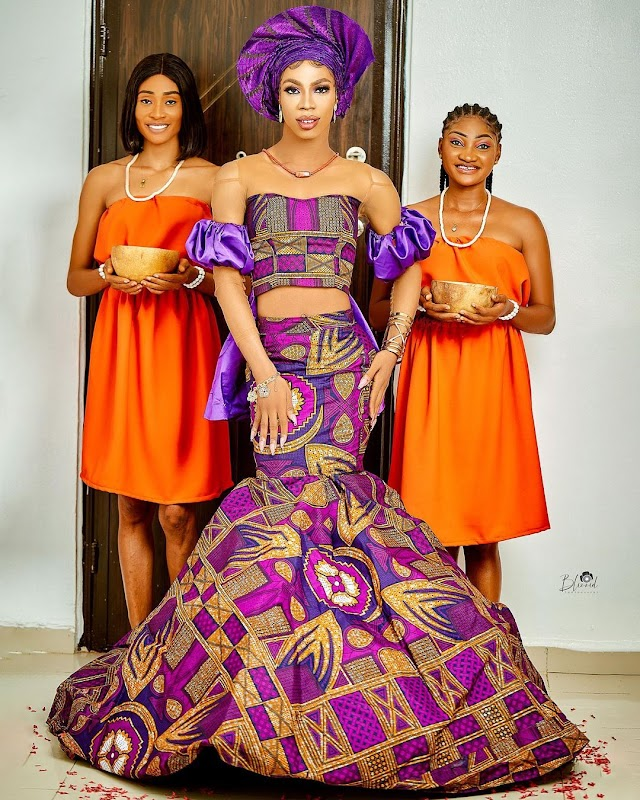 """""""Princess of Africow"""" – Nigerians react as crossdresser James Brown storms event with 'maidens' (Video)"""