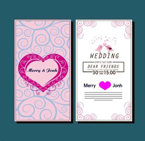 Wedding card design template free vector download (27,665