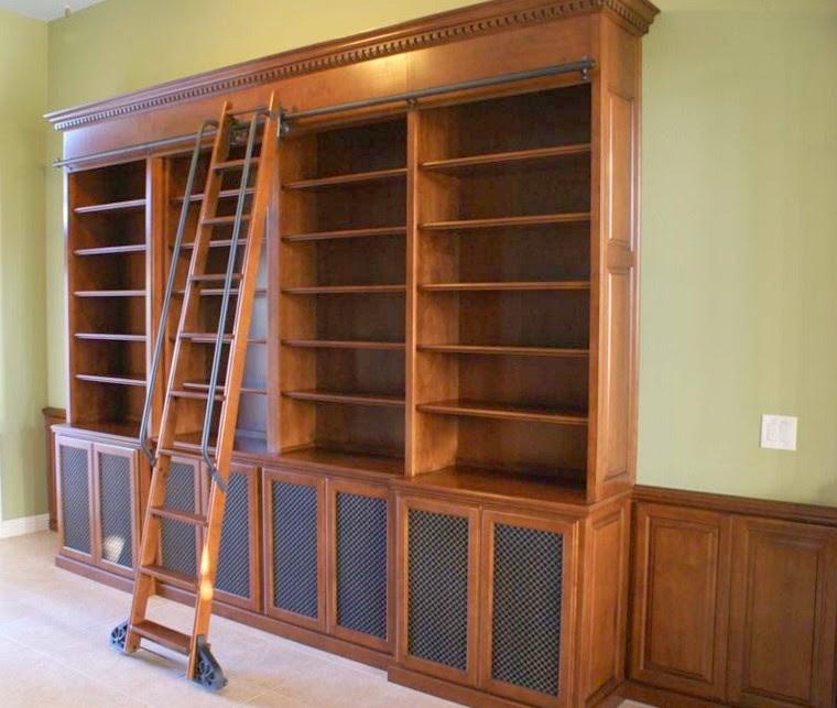 librerie su misura in legno scaletta Trento
