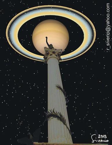 Saturno desde La Plaza Bolívar 1. 10:00 pm by Niño Jesús