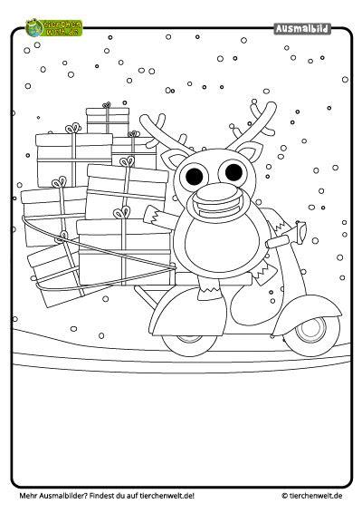 weihnachten malvorlagen rentier  kostenlose malvorlagen ideen