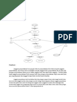 Use Case Diagram Perpustakaan Sekolah - Bagikan Contoh