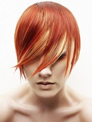 Cor do cabelo laranja