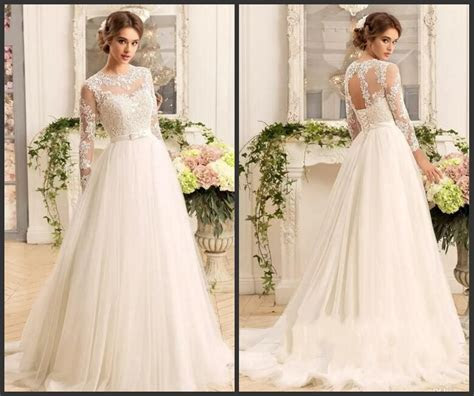 China Simple Lace Wedding Dress A Line Beach Garden Tulle
