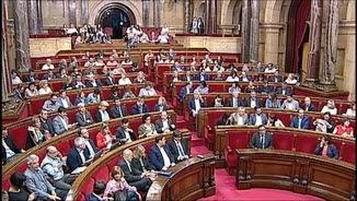 Sessió del Parlament on s'ha aprovat la moció