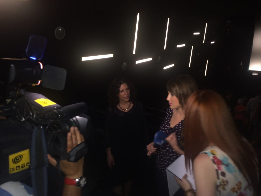 Tamar & Gregg give an interviewed for Spanish Television