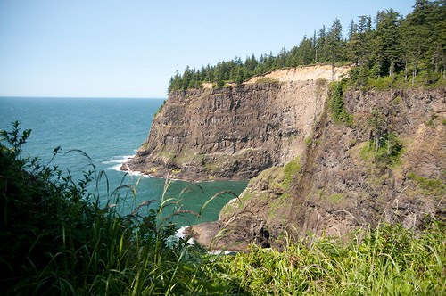 Looking out at the Pacific from the Cape Meares lighthouse near Tillamook, OR