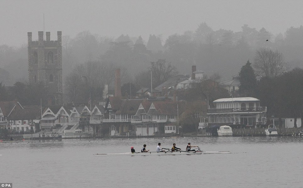 Mist-ical: Foggy conditions give the Thames a magical feel as rowers take to the water in Henley in Oxfordshire to train