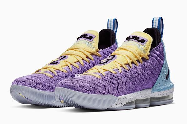 "03d01bc22cc Upcoming Nike LeBron 16 ""Lakers"" Honors The Franchise s 16 Championships"