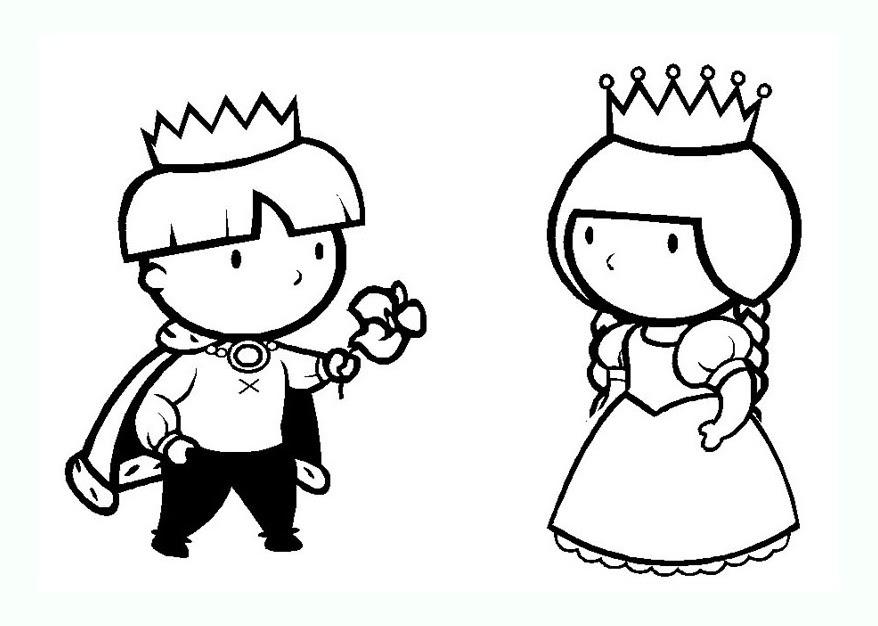Reine Et Roi Coloriage Az Coloriage