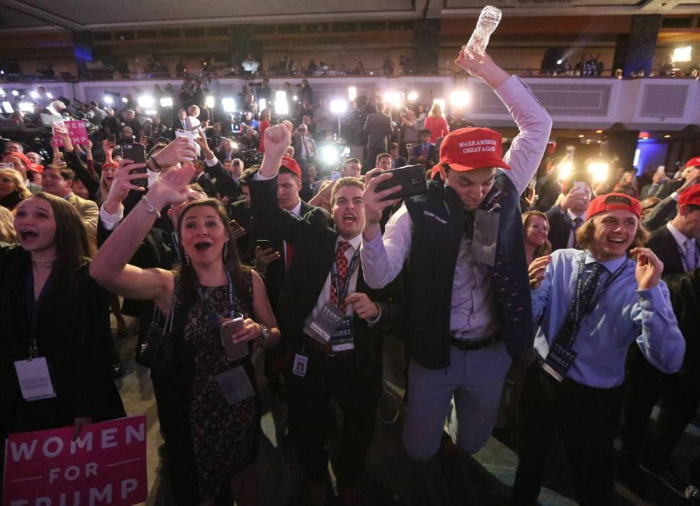Seguidores de Trump en Nueva York