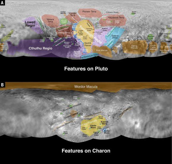Nombres provisionales de Plutón y Caronte (Stern et al.).