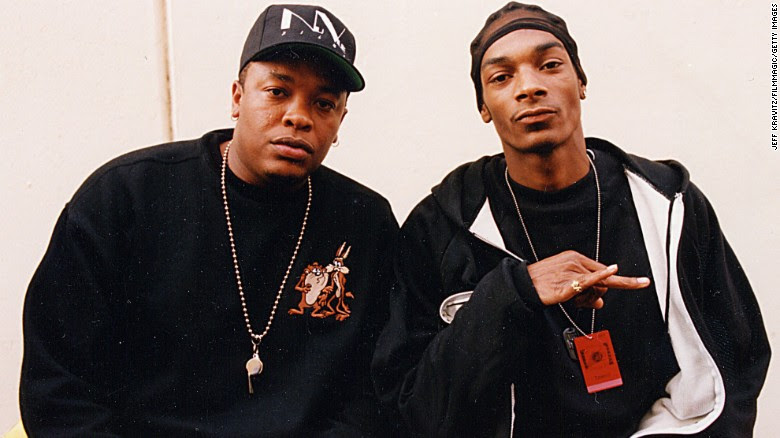 Dr. Dre, left, and Snoop Dogg were two of the hottest hip-hop stars of the 1990s. In August, Dre announced that he has a new album coming out. Here's a look back at some of the other stars of '90s rap.