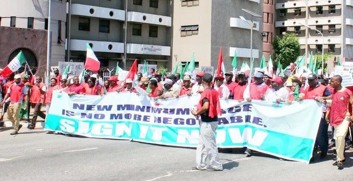 NLC, NANS Protest In Abuja (Photos)