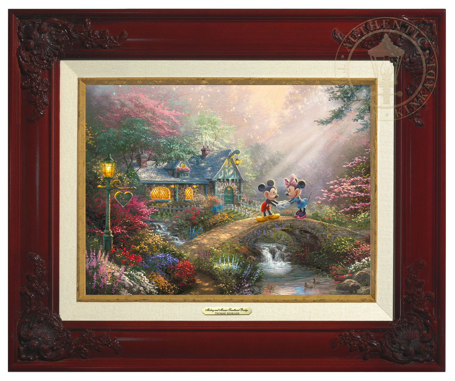 Disney Mickey And Minnie Sweetheart Bridge Canvas Classic