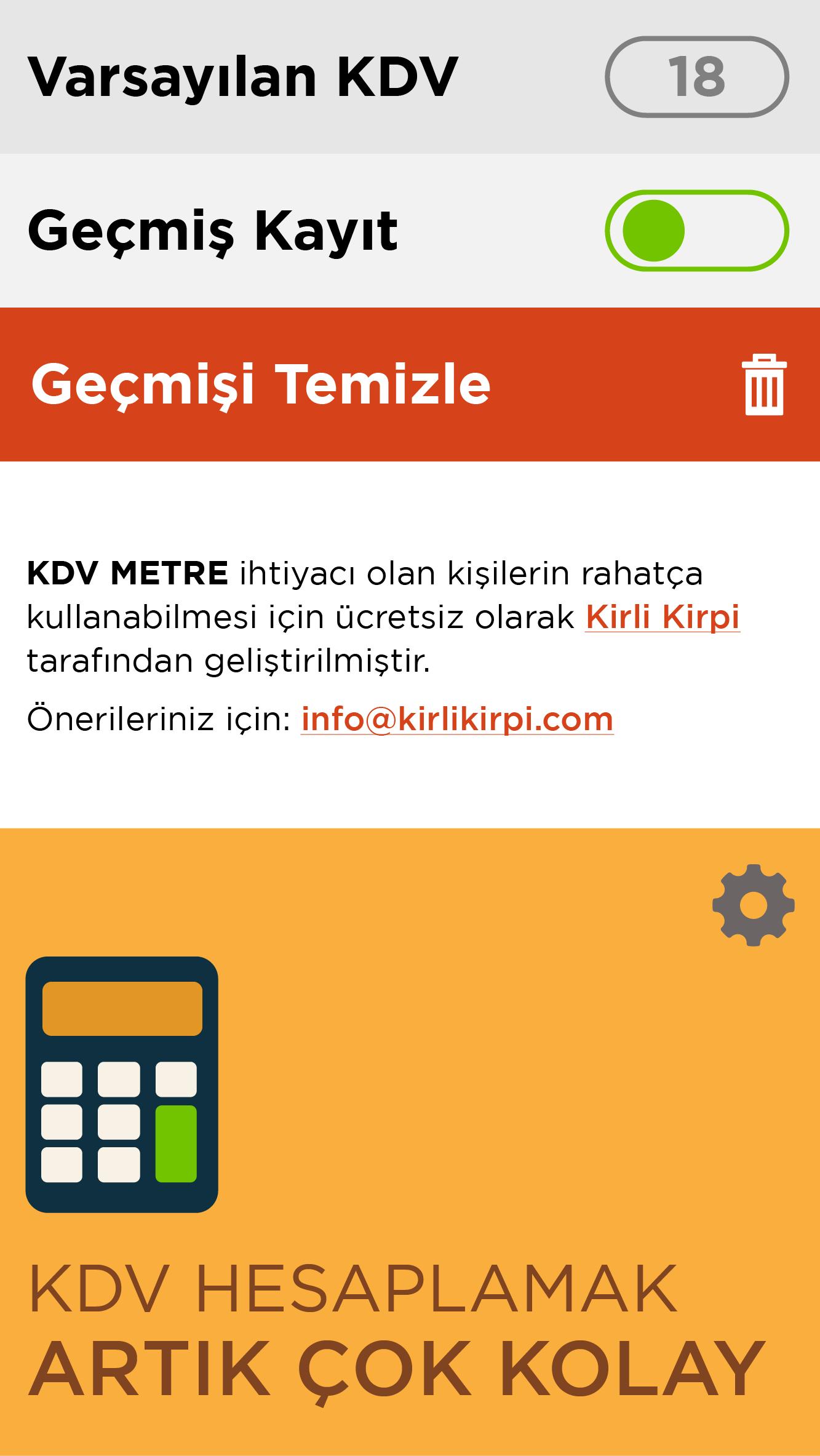 KDV Metre Mobile App - Umut AVCI