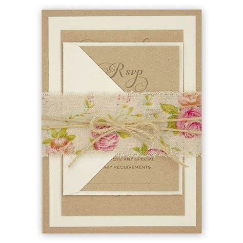 Antique Rose Parcel   Pure Invitation Wedding Invites