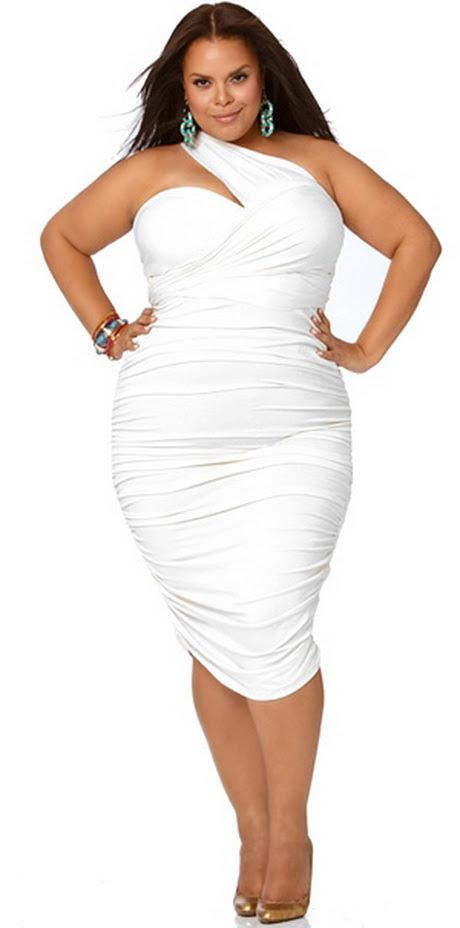 All white plus size attire plus size out business